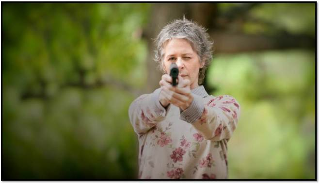Carol Walking Dead Floral and Stripes