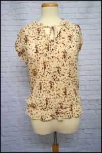 Cream Polka-Dot Blouse