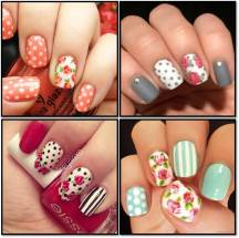 Floral and Dots Nails