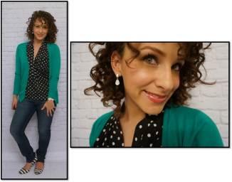 Green, Polka Dot Shirt and Striped Shoes