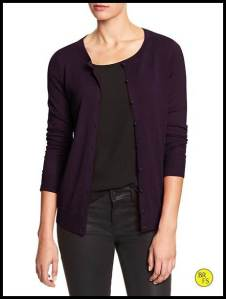 Purple Banana Republic Cardigan