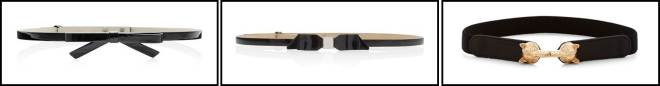 black bow belts