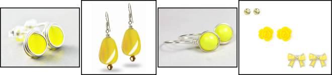 Neon Yellow Earrings